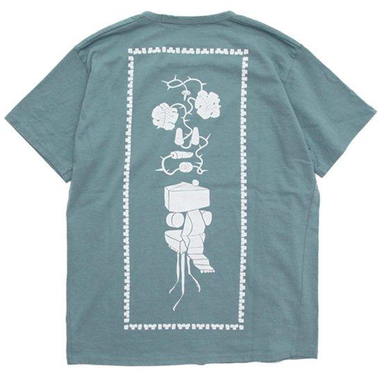 remilla レミーラ|ドローバック TEE (ペールブルー)(Tシャツ プリントTEE)