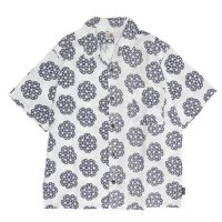 GO HEMP ゴーヘンプ|GREEN POINT OPEN SHIRTS (ナチュラル)(オープンカラーシャツ)