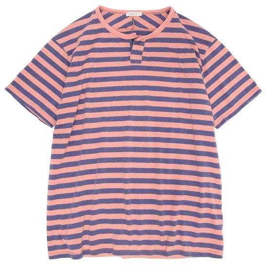 remilla レミーラ|テンビンプルボーダー (オレンジ)(Tシャツ ヘンリーネック)