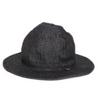 GO HEMP ゴーヘンプ|BLACK DENIM HOBO HAT (ブラック)(デニムハット)