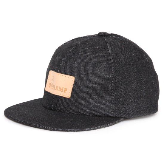 GO HEMP ゴーヘンプ|BLACK DENIM BASEBALL CAP (ブラック)(デニムキャップ)