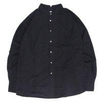 HiHiHi ひひひ|ゴデシャツ (ブラック)(スタンドカラーシャツ)