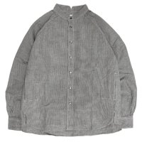 HiHiHi ひひひ|ゴデシャツ (千鳥リネン)(スタンドカラーシャツ)