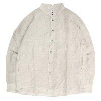 HiHiHi ひひひ|ゴデシャツ (ヘンプリネン)(スタンドカラーシャツ)