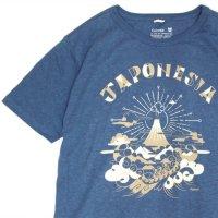 GO HEMP ゴーヘンプ|JAPONESIA S/SL TEE by Gravityfree (ナイアガラブルー)(プリント Tシャツ)