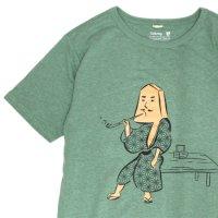 GO HEMP ゴーヘンプ|織田八之助 S/SL TEE by Karri Tree Design (ケールグリーン)(プリント Tシャツ)
