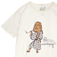 GO HEMP ゴーヘンプ|織田八之助 S/SL TEE by Karri Tree Design (ナチュラル)(プリント Tシャツ)
