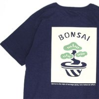 GO HEMP ゴーヘンプ|TENSAI-BONSAI S/SL TEE by 想い出スーベニール (マリンネイビー)(プリント Tシャツ)