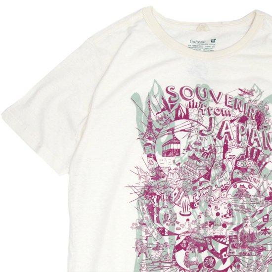 GO HEMP ゴーヘンプ|SOUVENIR from JAPAN S/SL TEE by 501.yamanaka (ナチュラル)(プリント Tシャツ)