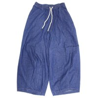GO HEMP ゴーヘンプ|レディース H/C SLUB NEP SUNNY BALOON PANTS (ブルー)(バルーンパンツ)