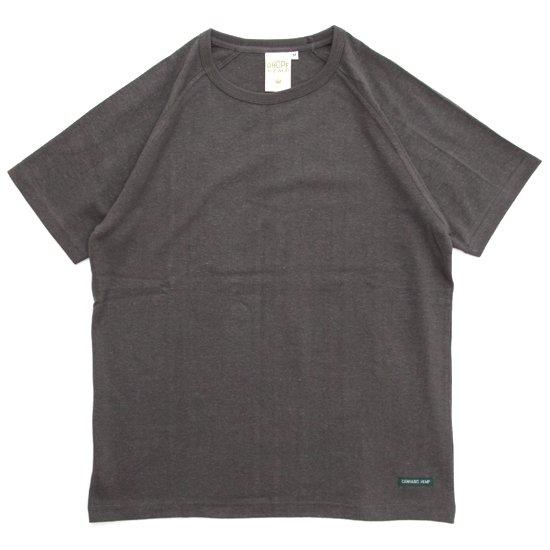A HOPE HEMP アホープヘンプ|ラグラン S/S Tee (オールドブラッキー)(無地TEE ラグランTシャツ)