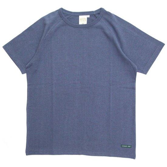 A HOPE HEMP アホープヘンプ|ラグラン S/S Tee (ミッドナイト)(無地TEE ラグランTシャツ)