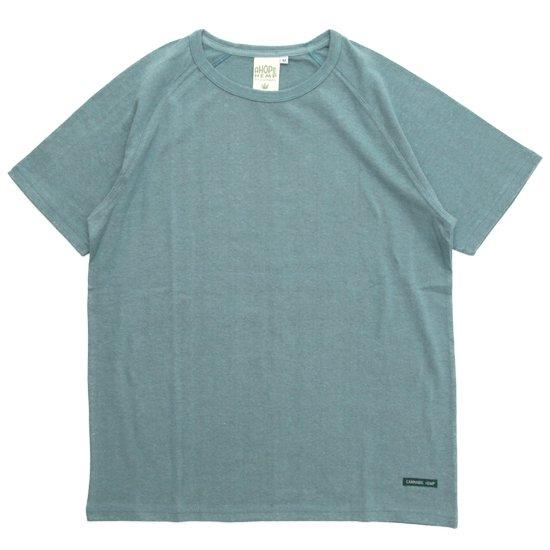 A HOPE HEMP アホープヘンプ|ラグラン S/S Tee (レインフォレスト)(無地TEE ラグランTシャツ)