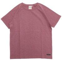 A HOPE HEMP アホープヘンプ|ラグラン S/S Tee (スカーレット)(無地TEE ラグランTシャツ)