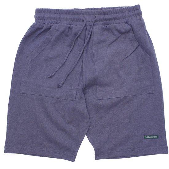 A HOPE HEMP アホープヘンプ|The Half Shorts (インクブルー)(ショートパンツ ヘンプコットン)