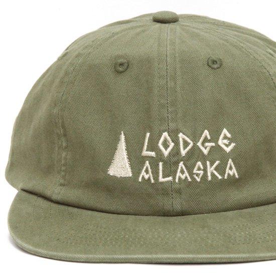 TACOMA FUJI RECORDS タコマフジレコード|Lodge ALASKA HERRINGBONE CAP (カーキ)(キャップ)