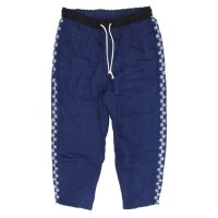 GO HEMP ゴーヘンプ|麻柄刺繍 YURURI PANTS (インディゴ)(イージーパンツ ヘンプ100%)