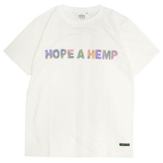 A HOPE HEMP アホープヘンプ Rainbow Regular S/S Tee (ナチュラル)(ヘンプコットン Tシャツ)