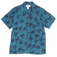 TWO PALMS ツーパームス|ALOHA SHIRTS (ブルー)(アロハシャツ)