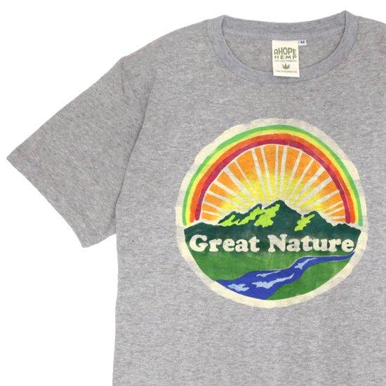 A HOPE HEMPアホープヘンプ|Great Nature S/S Tee (アッシュドグレイ)(ステンシルT)