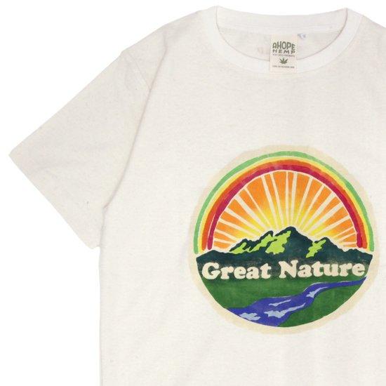 A HOPE HEMPアホープヘンプ|Great Nature S/S Tee (ナチュラル)(ステンシルT)