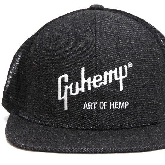 GO HEMP ゴーヘンプ ART OF HEMP MESH CAP (ブラック)(メッシュキャップ)
