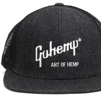 GO HEMP ゴーヘンプ|ART OF HEMP MESH CAP (ブラック)(メッシュキャップ)
