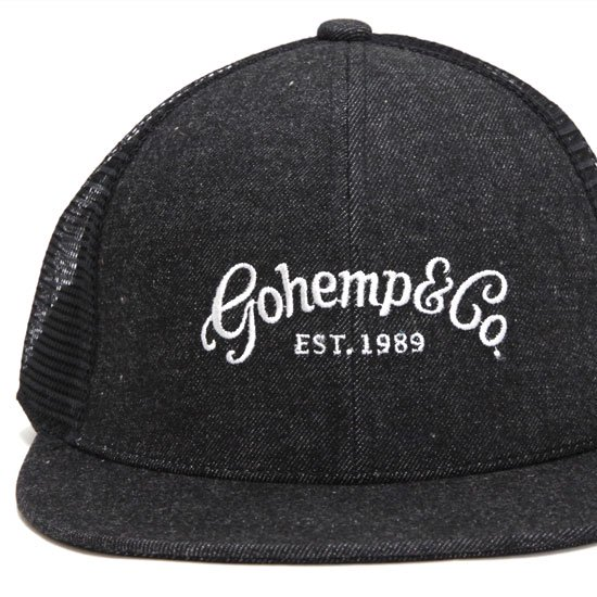 GO HEMP ゴーヘンプ gohemp&co MESH CAP (ブラック)(メッシュキャップ)