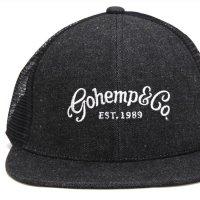 GO HEMP ゴーヘンプ|gohemp&co MESH CAP (ブラック)(メッシュキャップ)