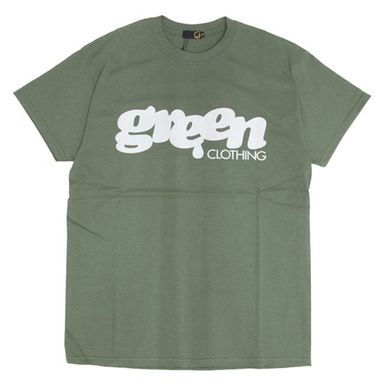 GREEN CLOTHING (グリーンクロージング)#1 LOGO TEE (オリーブ)(プリントTシャツ)