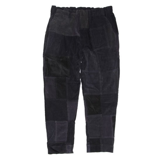 Nasngwam ナスングワム|SKELTER PANTS CORDUROY (ブラック)(リメイクアイテム)