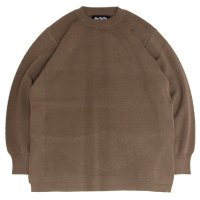 RoToTo ロトト|COTTON THERMAL L/S KNIT (カーキブラウン)(サーマルクルーネック)