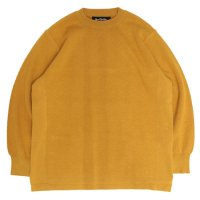 RoToTo ロトト|COTTON THERMAL L/S KNIT (イエロー)(サーマルクルーネック)