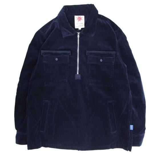Nasngwam ナスングワム|STONE FIELD SHIRTS (ネイビー)(ハーフジップシャツ)