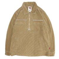 Nasngwam ナスングワム|STONE FIELD SHIRTS (ベージュ)(ハーフジップシャツ)