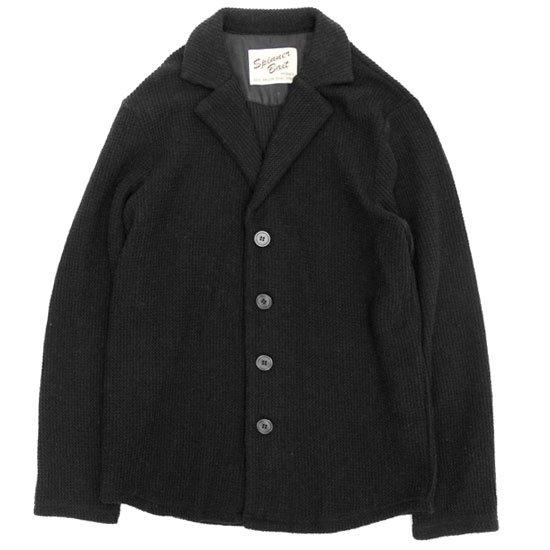 SPINNER BAIT スピナーベイト|ラッセルウール カーディガン (ブラック)(ウールジャケット カーディガン)