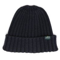GO HEMP ゴーヘンプ|RIB WATCH CAP (ブラック)(ニット帽 コットンニット)
