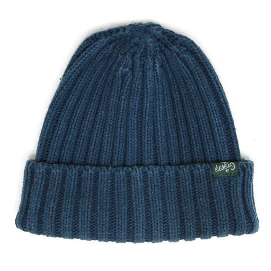 GO HEMP ゴーヘンプ|RIB WATCH CAP (アジュールブルー)(ニット帽 コットンニット)