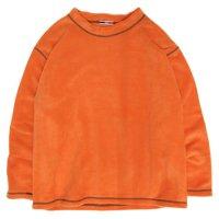 ionoi イオノイ STITCH MOCK FLEECE (オレンジ)(フリース モックネック)