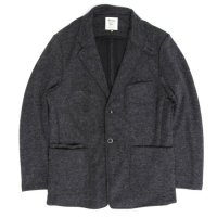 Jackman ジャックマン|JM8760 Jersey Jacket (チャコール)(ジャージジャケット)