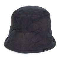 GO HEMP ゴーヘンプ|CANVAS BUCKET HAT (チャコール)(後染め バケットハット)