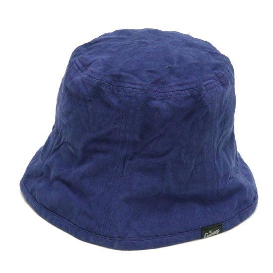 GO HEMP ゴーヘンプ|CANVAS BUCKET HAT (ブルー)(後染め バケットハット)