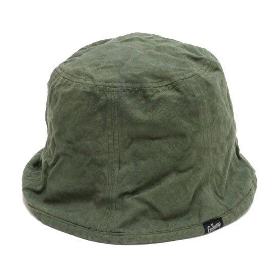 GO HEMP ゴーヘンプ|CANVAS BUCKET HAT (オリーブ)(後染め バケットハット)