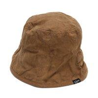 GO HEMP ゴーヘンプ|CANVAS BUCKET HAT (ブラウン)(後染め バケットハット)