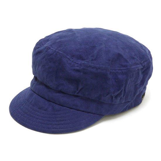GO HEMP ゴーヘンプ|CANVAS BAKER CAP (ブルー)(後染め ベイカーキャップ)