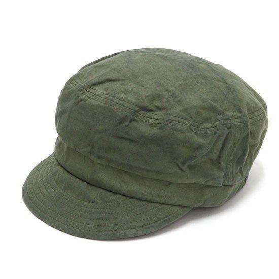 GO HEMP ゴーヘンプ|CANVAS BAKER CAP (オリーブ)(後染め ベイカーキャップ)