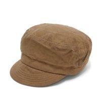 GO HEMP ゴーヘンプ|CANVAS BAKER CAP (ブラウン)(後染め ベイカーキャップ)