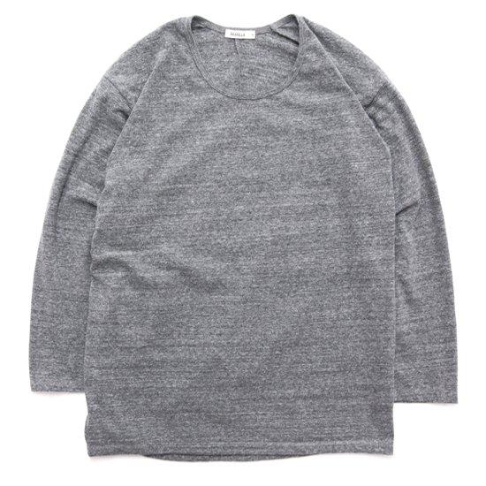 remilla レミーラ|UネックTEE (グレイ杢)(長袖Tシャツ)