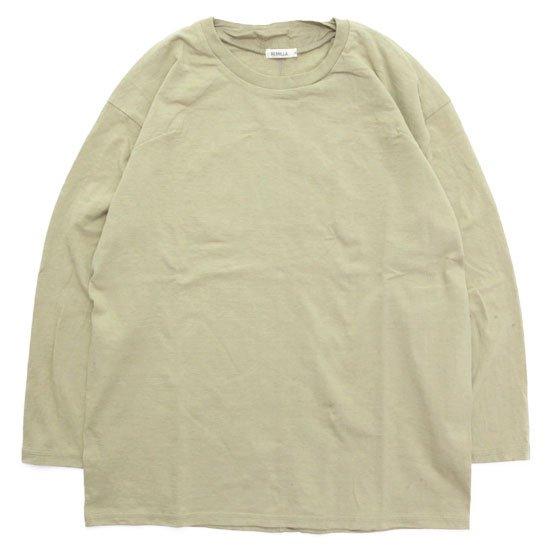 remilla レミーラ|カバーネックTEE (サンドイエロー)(長袖Tシャツ)