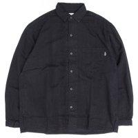 GO HEMP ゴーヘンプ|H/C TWILL 起毛 SHITAMACHI L/SL SHIRTS (ブラック)(長袖シャツ)